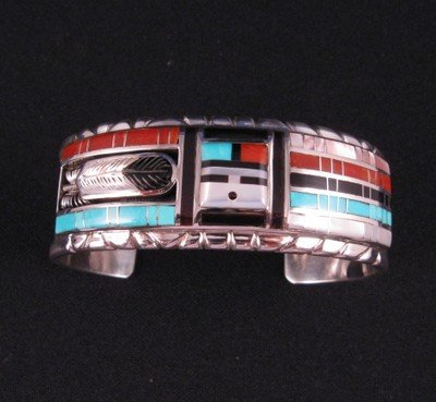Image 0 of Don Dewa Zuni Channel Inlay Sunface Bracelet