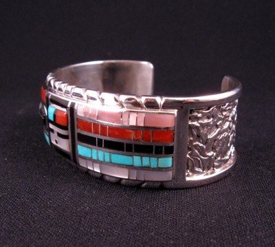 Image 2 of Don Dewa Zuni Channel Inlay Sunface Bracelet