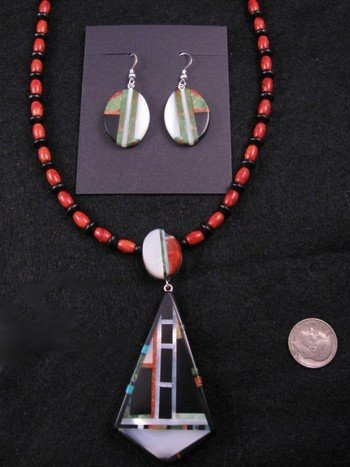Image 0 of Christopher Nieto, Santo Domingo, Natural Multi Stone Inlaid Necklace