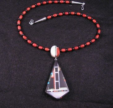 Image 1 of Christopher Nieto, Santo Domingo, Natural Multi Stone Inlaid Necklace