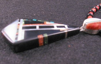 Image 2 of Christopher Nieto, Santo Domingo, Natural Multi Stone Inlaid Necklace