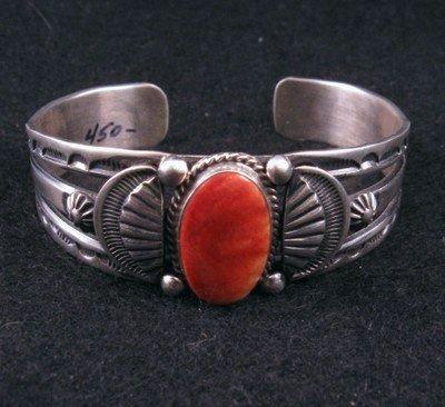 Navajo Old Style Spiny Oyster Bracelet, Delbert Gordon