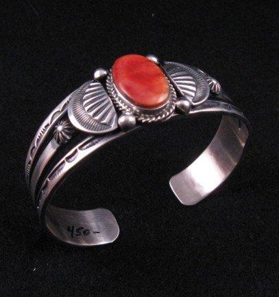 Image 1 of Navajo Old Style Spiny Oyster Bracelet, Delbert Gordon