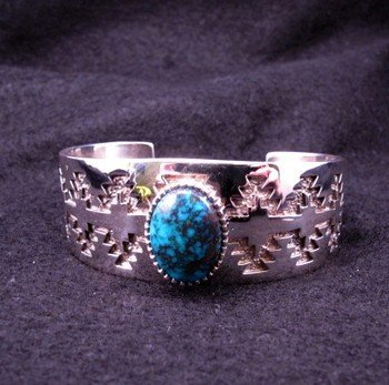 tommy jackson navajo bisbee turquoise sterling silver bracelet