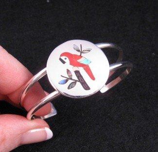 Sanford Edaakie ~ Zuni ~ Inlaid Macaw Parrot Bracelet