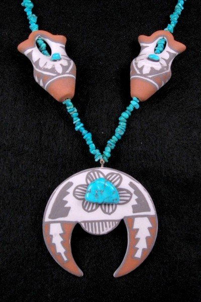 Mary Small ~ Vintage Indian Pottery Necklace ~ Jemez