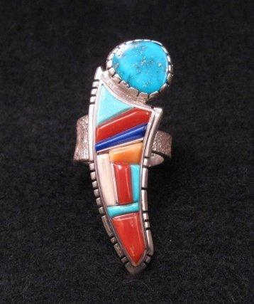 David Tune Navajo Native American Cobblestone Inlay Ring sz6 sz7 sz8