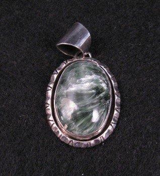 Image 0 of Navajo ~ Calvin Mariano ~ Seraphinite Silver Pendant