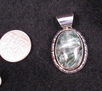 Image 1 of Navajo ~ Calvin Mariano ~ Seraphinite Silver Pendant