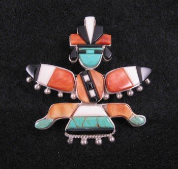 Navajo ~ Charlie Willie ~ Knifewing Pin/Pendant