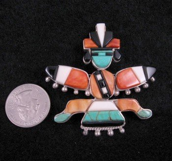 Image 1 of Navajo ~ Charlie Willie ~ Knifewing Pin/Pendant