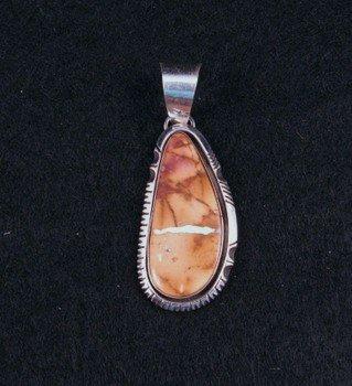 Navajo Boulder / Ribbon Turquoise Silver Pendant, Bea Johnson