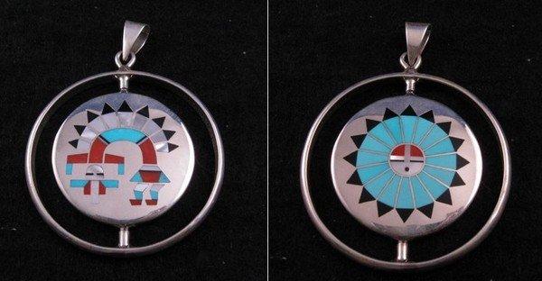 Fred & Lolita Natachu Zuni Rainbow Man / Sunface Spinner Pendant