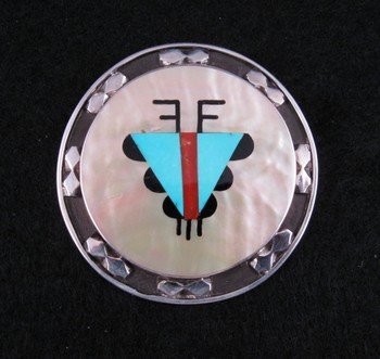 Zuni ~ Anthony Otto Lucio ~ Inlay Pin / Pendant