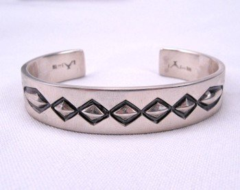 Navajo Hand Made Sterling Silver Cuff Bracelet, Fidel Bahe
