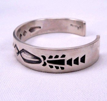 Image 1 of Navajo Hand Made Sterling Silver Cuff Bracelet, Fidel Bahe