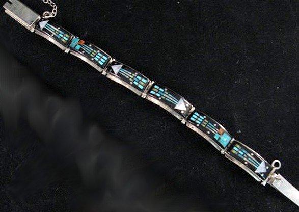 Sammy Smith ~ Navajo ~ Micro-Inlay Kachina Link Bracelet