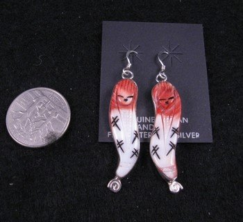 Image 1 of Zuni Corn Maiden Earrings, Chad Quandelacy & Valerie Comosona