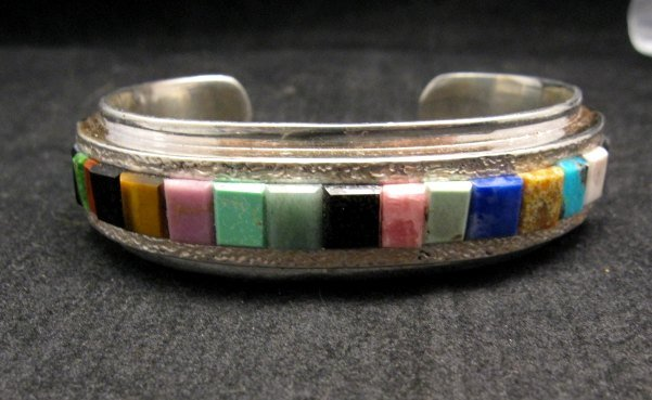 Image 1 of Hopi Multi Stone Inlay Bracelet, Bennard & Frances Dallasvuyaoma