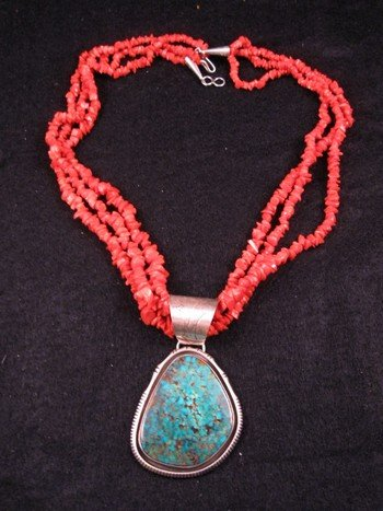 Image 2 of Three-strand 19-inch Coral Necklace