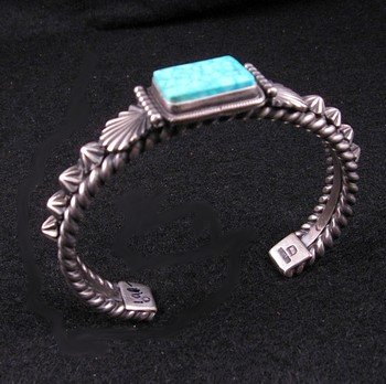 Image 1 of Darryl Becenti Navajo Turquoise Sterling Silver Bracelet