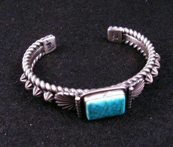 Image 2 of Darryl Becenti Navajo Turquoise Sterling Silver Bracelet