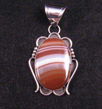 Image 0 of Navajo Agate Silver Pendant, Everett & Mary Teller