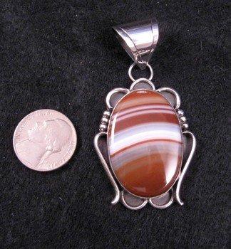 Image 1 of Navajo Agate Silver Pendant, Everett & Mary Teller