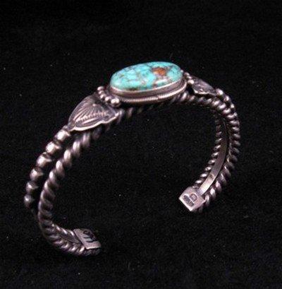 Image 2 of Navajo Turquoise Silver Cuff Bracelet, Darryl Becenti