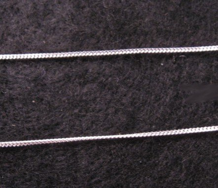 Sterling Silver 1MM Curb Chain Necklace - 18-Inch Long