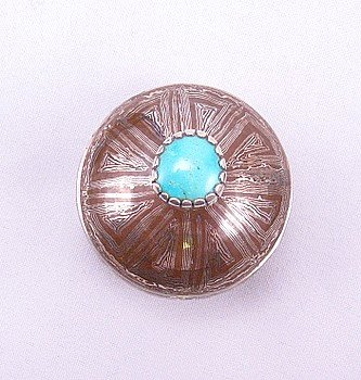 Image 2 of Shane Hendren Navajo Mokume Gane Silver Turquoise Seed Pot - One of a Kind