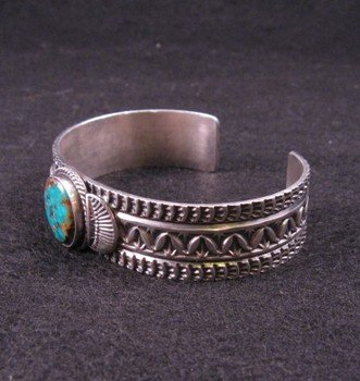 Image 2 of Navajo ~ Sunshine Reeves ~ Old Pawn Style Turquoise Cuff Bracelet