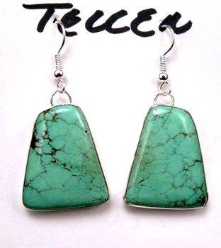 Navajo Native American Turquoise Earrings, Everett & Mary Teller