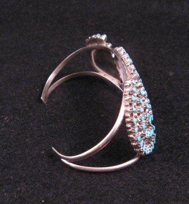 Image 1 of Native American ZUNI Turquoise Cluster Bracelet, Trudi Quetawki