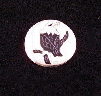 Sanford Edaakie Zuni American Bald Eagle Silver Pin / Pendant