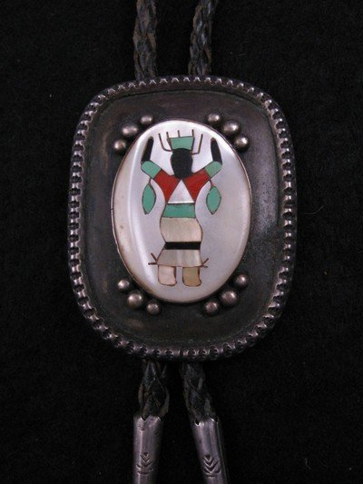 Image 0 of Vintage 1960's Navajo Apache Crown Mountain Spirit Gahn Dancer Bolo