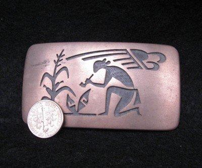 Image 1 of Vintage Hopi Silver Overlay  Buckle, Verden Mansfield