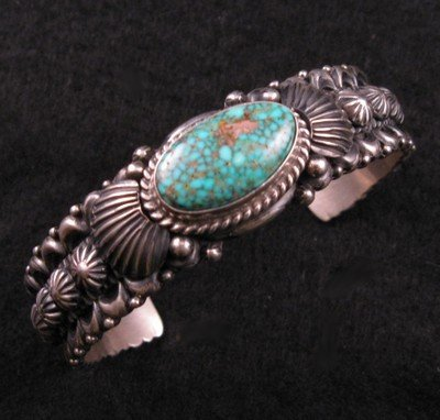 Image 0 of Navajo Turquoise Silver Bracelet, Darryl Becenti RIP