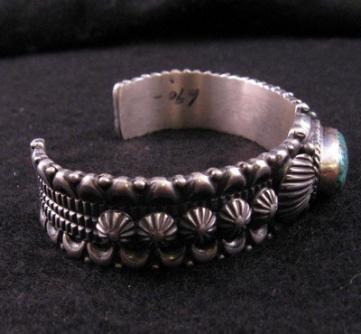 Image 1 of Navajo Turquoise Silver Bracelet, Darryl Becenti RIP