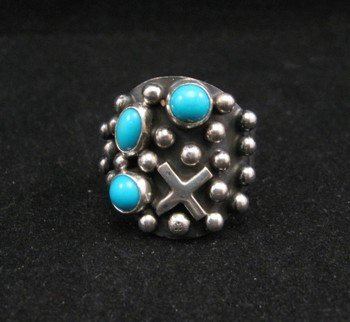 Navajo ~ Ronnie Willie ~ Turquoise Silver Ring sz9