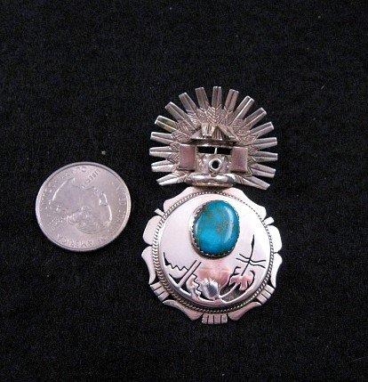 Image 2 of Navajo Turquoise Kachina Pin Pendant 20