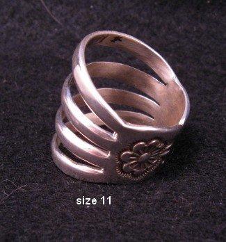 Navajo 4-Way Split Band Ring sz11, Wilbur Benally