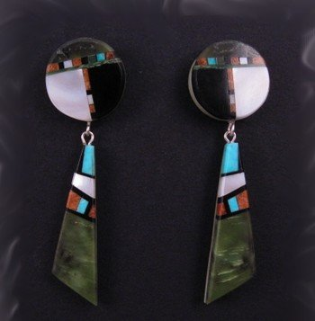 Image 0 of Santo Domingo ~ Christopher Nieto ~ Multigem Inlay Earrings