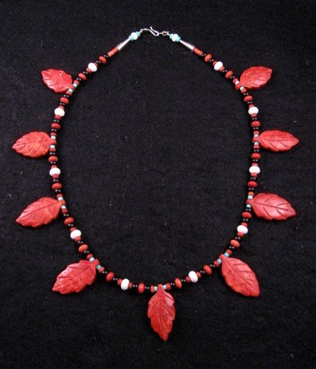 Santo Domingo, Christopher Nieto, Carved Leaf Necklace