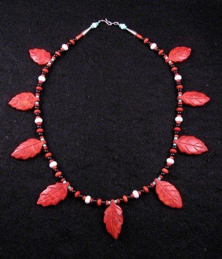 Santo Domingo, Christopher Nieto, Carved Leaf Necklace