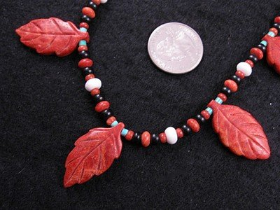 Image 1 of Santo Domingo, Christopher Nieto, Carved Leaf Necklace