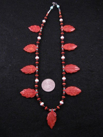 Image 2 of Santo Domingo, Christopher Nieto, Carved Leaf Necklace