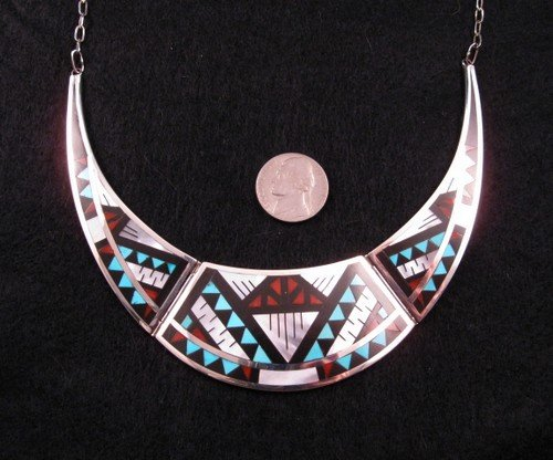 Marylita Boone ~ Zuni ~ Three-Piece Inlaid Collar Necklace