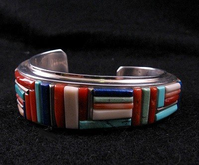 Image 1 of David Tune ~ Navajo/Creek ~ Cobblestone Inlay Bracelet
