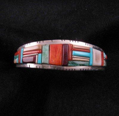 David Tune Navajo/Creek Multi-stone Inlay Bracelet